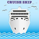 Illustration of sea cruise passenger liner. Stock Images