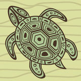Decorative sea turtle Stock Images