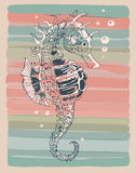 Illustration of a seahorse. Royalty Free Stock Photo