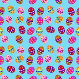 seamless background with Easter eggs Royalty Free Stock Image