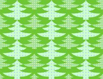 Illustration of seamless background of stylized green Christmas trees Royalty Free Stock Images
