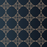 Illustration of seamless baroque background in vintage style Royalty Free Stock Photos