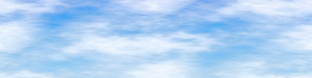 Illustration of seamless blue sky wide screen with soft white clouds and thin air with copy space available for your text,logo, pr vector illustration