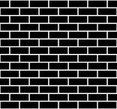 Illustration of seamless brick wall. Isolated on white Stock Photography