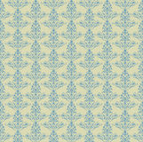 Illustration of seamless floral background in vintage style. Seamless background blue color. Vintage style Royalty Free Stock Images