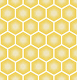 Illustration of seamless geometric pattern with honeycombs Royalty Free Stock Images