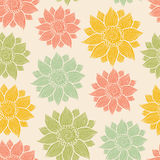 Illustration of seamless hand-drawn floral pattern Stock Photo