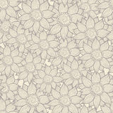 Illustration of seamless hand-drawn floral pattern Royalty Free Stock Photography