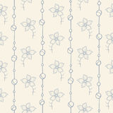 Illustration of seamless hand-drawn floral pattern Stock Image