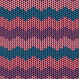 Illustration seamless knitted pattern. Royalty Free Stock Images