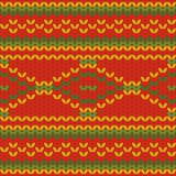Illustration seamless knitted pattern. Royalty Free Stock Photo