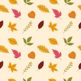 Seamless pattern of autumn leaves. vector illustration