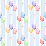 Illustration seamless pattern colorful balloons cute kids Royalty Free Stock Photo