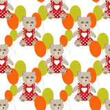 Illustration of seamless pattern with colorful toys bears teddy Stock Photography