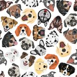 Illustration seamless Pattern Dogs Stock Photo