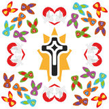 Illustration Seamless Pattern Easter Cross Royalty Free Stock Photography