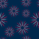 Illustration Seamless Pattern firework for Independence Day of USA, Wallpaper for American Holidays Stock Images