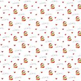 Illustration of seamless pattern love gifts for textile, wrapping paper stock illustration