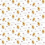 Illustration of seamless pattern love gifts for textile, wrapping paper royalty free illustration