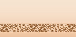 Illustration. Seamless pattern stylized as henna Royalty Free Stock Photography