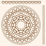 Illustration. Seamless pattern stylized as henna Royalty Free Stock Images
