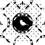 Illustration seamless retro pattern, birds Royalty Free Stock Images