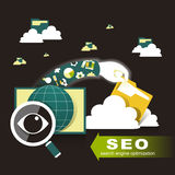 Illustration of search engine optimization Stock Photo