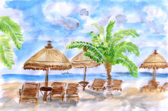 Illustration Seaside holiday Royalty Free Stock Images