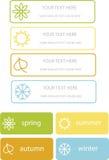 Illustration of season symbols Stock Photo