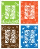 Illustration of season symbols Royalty Free Stock Image