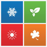 Illustration of seasons Stock Photography