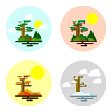 Illustration of seasons. 4 seasons of year.vector illustration Royalty Free Illustration
