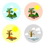 Illustration of seasons. 4 seasons of year.vector illustration Royalty Free Stock Photography