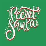 Illustration secrète de vecteur de Santa avec Santa Claus illustration de vecteur