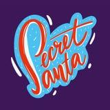 Illustration secrète de vecteur de Santa avec Santa Claus illustration stock