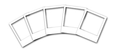 Multi Polaroid Frames Illustration. A illustration of a semi circular layout of polaroid frames. Image is also available as a transparent PNG royalty free illustration