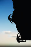 Illustration of senior climber man silhouette Royalty Free Stock Photo