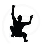 Illustration of senior climber man silhouette Stock Photo