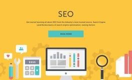 Illustration of Seo Optimization Analysis Elements Royalty Free Stock Images