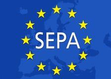 Illustration SEPA Single Euro Payments Area vector illustration