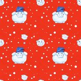 Illustration series Winter Holidays Pigs. X-mas seamless pattern. Illustration series Winter Holidays Pigs. Watercolor seamless pattern, elements on a red stock photos