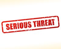 Serious threat text buffered vector illustration