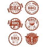 Illustration set of bbq labels Stock Image