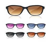 Set of black sunglasses Royalty Free Stock Photography