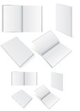 Illustration set of books with softcover. Illustration set of blank square of rectangle books with softcover Stock Photo