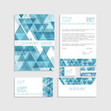 Illustration set of business template Stock Photo