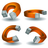 Horseshoe Magnet Set Royalty Free Stock Photo