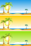 Summer Tropical Beach Set Stock Image