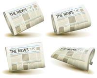Newspaper Icons Set stock illustration