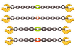 Illustration set of chains Royalty Free Stock Images